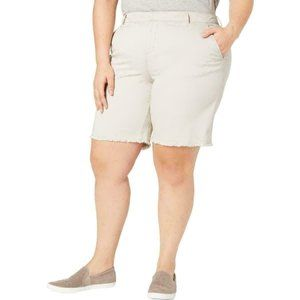 Style&Co. Womens Mid Rise Frayed Hem Chino Shorts